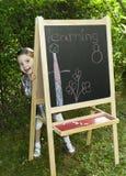 Lernen des kleinen Mädchens Lizenzfreie Stockfotos