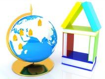 Lernen des Konzeptes für Geschäft. Global Stockfoto