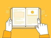 Lernen des Onlinekonzeptes Lizenzfreie Stockfotos