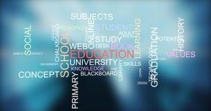 Lernen des Wissens durch Trainingsbildungs-Worttypographie Lizenzfreie Stockfotografie