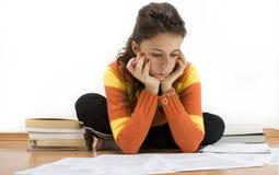 Lernen für eine Prüfung Lizenzfreies Stockbild
