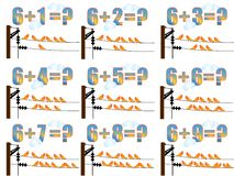 Lernen Mathe, 6 hinzufügend Lizenzfreie Stockfotografie