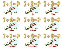 Lernen Mathe, 7 hinzufügend Stockfotografie