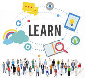 Lernen Sie Bildungs-Studien-Tätigkeits-Wissens-Konzept lizenzfreies stockbild