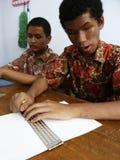 Lernen Sie Blindenschrift Lizenzfreie Stockfotografie
