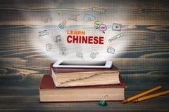 Lernen Sie Chinesisch Bildung und Geschäftshintergrund stockbilder