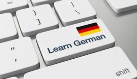 Lernen Sie deutsches on-line Stockbild