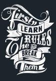 Lernen Sie die Regeln Stockfotos