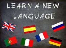 Lernen Sie eine neue Sprache Lizenzfreies Stockbild