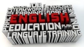 Lernen Sie Englisch stock abbildung