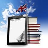 Lernen Sie Englisch - Tablet-Computer lizenzfreie abbildung