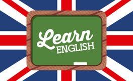Lernen Sie Englischdesign lizenzfreie abbildung