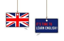Lernen Sie englisches jetzt Konzept lizenzfreie abbildung