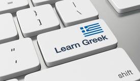 Lernen Sie griechisches on-line Stockfotografie