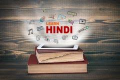 Lernen Sie Hindi, Bildung und Geschäftshintergrund lizenzfreies stockfoto