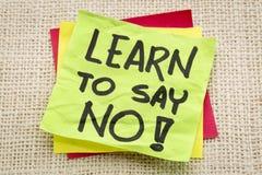 Lernen Sie, keinen Rat zu sagen Stockfoto