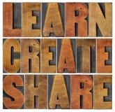 Lernen Sie, schaffen Sie und teilen Sie Stockfotos