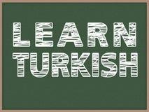 Lernen Sie Türkisch Stockbild
