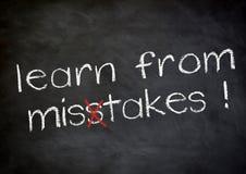 Lernen Sie von den Fehlern Stockfoto