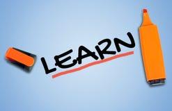 Lernen Sie Wort Lizenzfreie Stockfotos