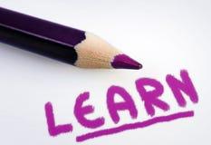 Lernen Sie Wort Lizenzfreies Stockfoto