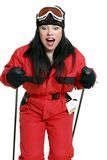 Lernen Ski zu fahren lizenzfreies stockbild