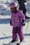 Lernen Ski zu fahren Lizenzfreie Stockfotografie