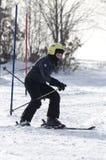 Lernen Ski zu fahren Stockbilder