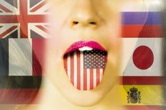 Lernen von Sprachen und Reisen Lizenzfreie Stockfotos