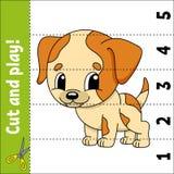 Lernen von Zahlen Sich entwickelndes Arbeitsblatt der Ausbildung Spiel für Kinder Tätigkeitsseite Puzzlespiel für Kinder Rätsel f lizenzfreie abbildung