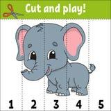 Lernen von Zahlen Sich entwickelndes Arbeitsblatt der Ausbildung Spiel f?r Kinder T?tigkeitsseite Puzzlespiel f?r Kinder R?tsel f vektor abbildung