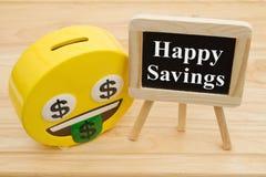 Lernen, wie man Geld spart stockfotos
