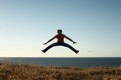 Lernen zu fliegen Stockbild