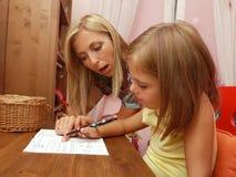 Lernen zu schreiben Lizenzfreies Stockbild