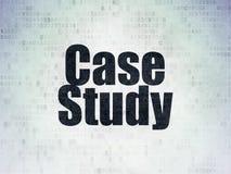 Lernkonzept: Fallstudie auf Digital-Daten-Papierhintergrund vektor abbildung