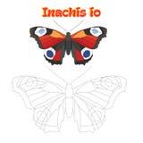 Lernspiel schließen Punkte an Schmetterling des abgehobenen Betrages an Stockfotografie