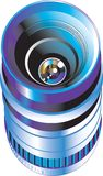Lernziel für digitale Fotokamera Lizenzfreies Stockfoto