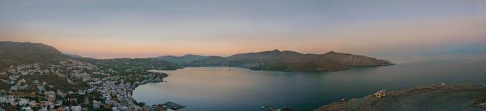 Leros panorama Zdjęcia Royalty Free