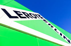 Leroy Merlin brand sign against blue sky Royalty Free Stock Photos