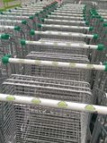 Leroy Merlin trolley. In line royalty free stock images