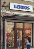 Lerros商店在Manufactura,乌克兰第一个出口村庄 库存照片