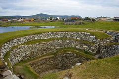 Lerwick, Broch of Clickimin, S. Near Lerwick, Shetland, well preserved ancient broch royalty free stock photo