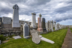 Lerwick cemetery Royalty Free Stock Photography