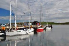 Lerwick schronienie, Shetland wyspy zdjęcia royalty free