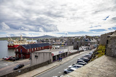 Lerwick stad, Shetland, Skottland Arkivfoton