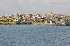 Lerwick town center, seaside Stock Image