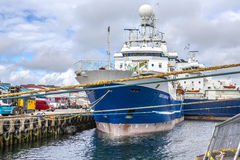 Lerwick UK, Harbor2 Royaltyfria Bilder