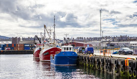 Lerwick UK, Harbor3 Arkivfoton