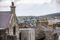 Lerwick velho e novo, Shetland, Escócia Foto de Stock