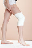 Lesão de joelho Foto de Stock